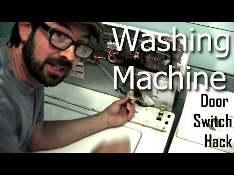 how do you bypass a washing machine door lock